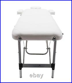 Knightsbridge 10Kg Alu Portable Massage Table Couch Beauty Therapy Bed Reiki Spa