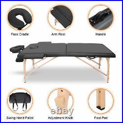 Lightweight Portable Folding Massage Table Beauty Salon Health Care Couch Bed UK