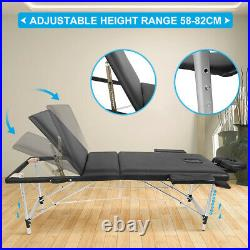 Lightweight Portable Massage Table Spa Reiki Couch Eyelash Beauty Couch Bed