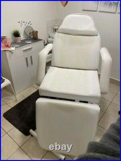 Luxury Leather Massage Facials Beauty Salon Hydraulic Couch Bed
