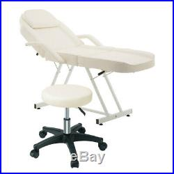 Manual Adjustable Massage Couch Bed Salon Beauty Therapist Treatment Chair Stool