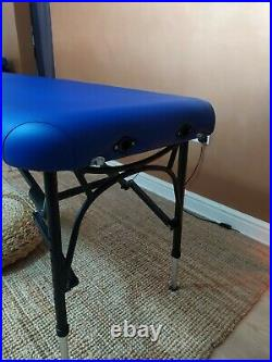 Massage Couch Lightweight Aluminium Bed Table Mobile Beauty with Face Cradle