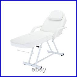 Massage Table 3 Section Reclining Salon Chair Tattoo Spa Facial Couch Bed Stool