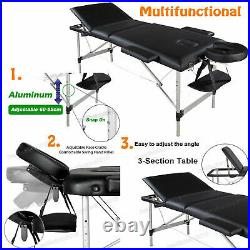 Massage Table Adjustable Beauty Salon Healing Tattoo Therapy Couch Spa Relax Bed