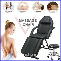 Massage Table Beauty Salon Bed Chair Reclining Facial SPA Therapy Tattoo Couch