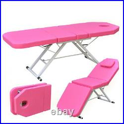 Massage Table Bed Beauty Bed Salon Spa Couch Chair Portable Folding 3 Sections