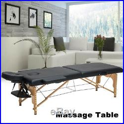 Massage Table Bed Black Therapy Beauty Adjustable Couch Salon Portable Y