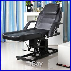 Massage Table Bed Electric Facial Beauty Salon Tattoo Recling Chair Couch Black