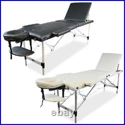 Massage Table Bed Lightweight Aluminium Therapy 3 Section Folding Couch Tattoo