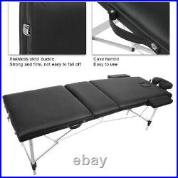 Massage Table Bed Portable Beauty Couch 3 Section Folding Massage Bed Equipment