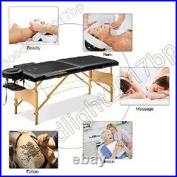 Massage Table Bed Portable Beauty Salon Couch Professional 2 Folding Lightweight