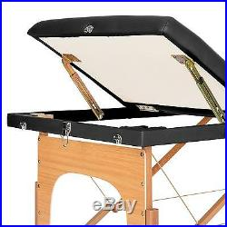 Massage Table Portable Therapy Bed Foldable Beauty Salon Couch Portable Black