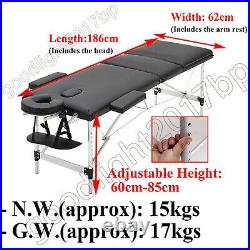 Massage Table Spa Bed Portable 2 / 3 Folding Beauty Salon Tattoo Therapy Couch