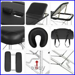Massage Table Spa Bed Portable Folding Salon Tattoo Therapy Couch Aluminium