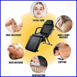 Massage Table Tattoo Pedicure Facial Massage Lash Sofa Bed w Stool Adjustable