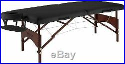 Master Massage 70cm Argo Portable Massage Table Beauty Spa Couch Tattoo Bed, BLK