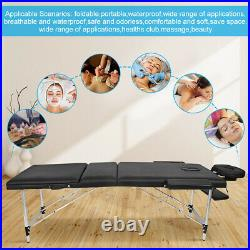 Mobile Massage Table Beauty Salon Treatment Tattoo Couch Bed Folding Lightweight