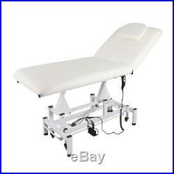 Mobile Salon Electric Massage Table Physio Treatment Couch SPA Therapy Bed White