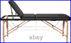 Naipo Massage Bed Table Couch Deluxe Professional 3 Section Portable Beds with