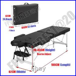 New Massage Table Spa Bed Portable Folding Salon Tattoo Therapy Couch Aluminium