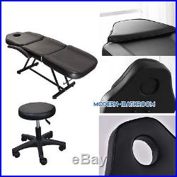 PU Leather Massage Table Stool Set Beauty Tatto Therapy Chair 3Section Couch Bed