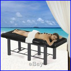 Pedicure Beauty Salon Chair Balance Massage Table Facial Couch Bed Tattoo Black