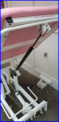 Pink Medi Plinth hydraulic physiotherapy Massage, treatment table, bed, couch