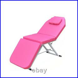 Portable Folding Massage Table Bed Therapy Beauty 3 Sections Couch Salon Pink