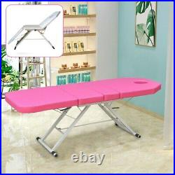 Portable Folding Massage Table Bed Therapy Beauty Salon Bed 3 Sections Couch