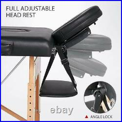 Portable Folding Massage Table Eye Lash's Beauty Salon Therapy Couch Bed+Lock UK