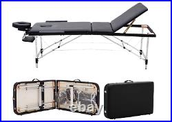 Portable Massage Table 3 Section Folding Couch Plinth Beds Sports Massage NEW