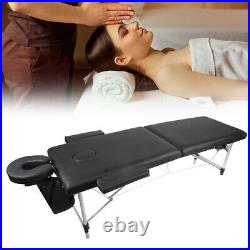 Portable Massage Table Beauty Therapy Couch Bed Salon Spa Tattoo Aluminum Device