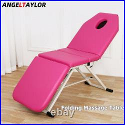 Portable Massage Table Beauty Therapy Couch Bed Tattoo Massage Chair Foldable UK