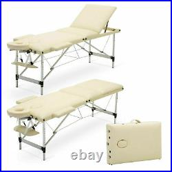 Portable Massage Table Beauty Therapy Facial Spa Salon Couch Bed 2-3 Section