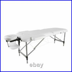 Portable Massage Table Bed Lightweight Beauty Salon Therapy Tattoo Couch White