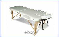 Portable Wooden Massage Table Foldable Bed Salon Spa Therapy Tattoo Couch 2 Fold