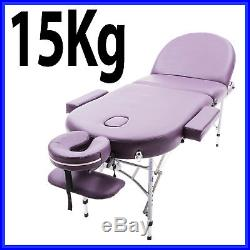 Purple Alu Lite Portable Massage Table Bed Spa Reiki Couch Beauty Therapy Pad 1