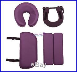 Purple Orvis Portable Massage Table Couch Beauty Therapy Bed Reiki 3 Spa