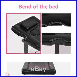 Reclinable Beauty Bed Couch Massage Salon Table Physio Tattoo Removable Headrest