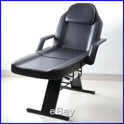 Reclinable Massage Bed Beauty Salon Tattoo Therapy Couch Table with2 Trays 1 Stool