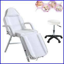 Recliner Beauty Salon Bed Table & Chair Set Hair Treatment Tattoo Therapy Couch