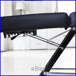 Reclining Beauty Salon Chair With Stool Massage Table Treatment Couch Bed Black