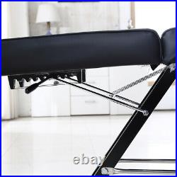 Reclining Beauty Salon Massage Bed Table Chair Stool Couch Facial Therapy Black