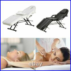 Reclining Massage Beauty Chair Bed Facial Therapy Table Couch FREE Stool Black