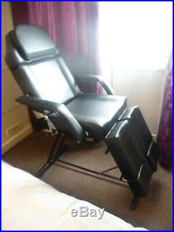 Reclining Premium Black Chair, Bed, Couch. Beauty Salon, SPA, Massage, Tattoo