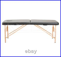 Salon Portable Folding Massage Table Bed Tattoo Spa Therapy Couch 2 Section