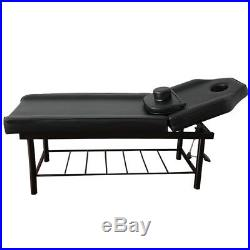 Sturdy Massage Table Couch Beauty Bed Salon Therapy Tattoo Chrome Rack Stand Spa