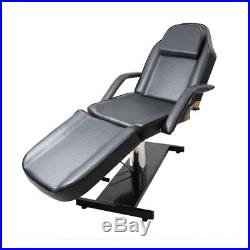 Sturdy Massage Table Hydraulic Beauty Care Tattoo Chair Reclining SPA Couch Bed