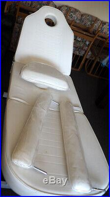Superb massage therapy couch table bed, reclining, strong, and sturdy