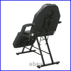 Therapy Massage Couch Bed Table Beauty Salon Chair Tattoo Facial SPA Black PU